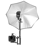 ALZO Flip Flash Bracket Umbrella Kit with H-Bar