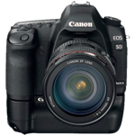 Canon EOS 5D Mark II with battery grip