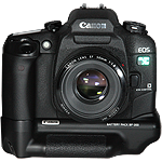 Canon EOS Elan 7NE with battery grip